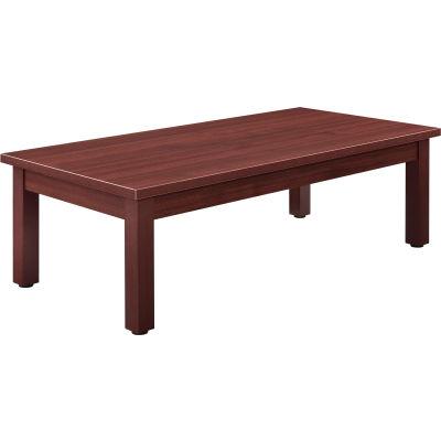 "Interion® Wood Coffee Table - 48"" x 24"" - Mahogany"