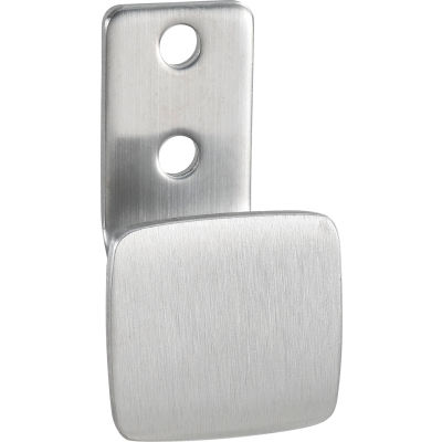 Interion® Square Clothes Hook - Silver Satin Finish