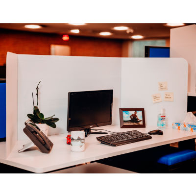 71 Visuals Social Distancing Desk Shield, Corrugated Plastic  - 6/Pack
