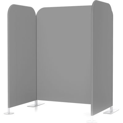 Global Industrial™ Vaccine & Wellness Booth, Stretched Fabric, Gray