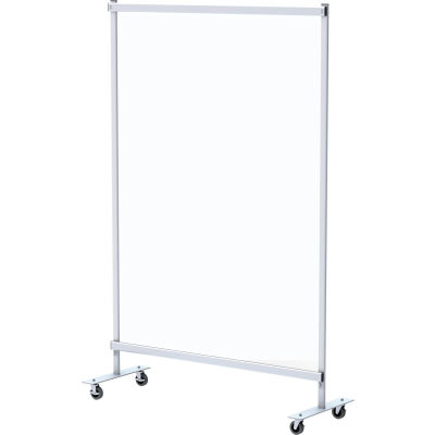 """Global Industrial™ Mobile Clear Room Divider, 48""""W x 72""""H"""