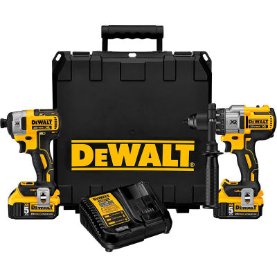 DeWALT DCK299P2 20V MAX XR Li-Ion Cordless Brushless Hammerdrill/Impact Combo Kit 5.0Ah w/ Charger