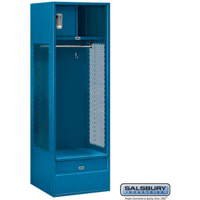 "Steel Gear Locker With Open Front, 24""Wx24""Dx72""H, Blue, Assembled"