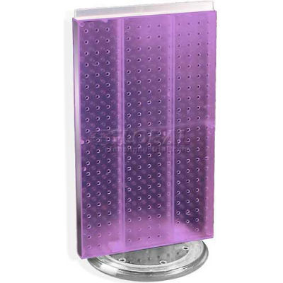"""Azar Displays 700513-PUR Two-Sided Revolving Pegboard Countertop Display, 13.5"""" x 22"""", Purple"""