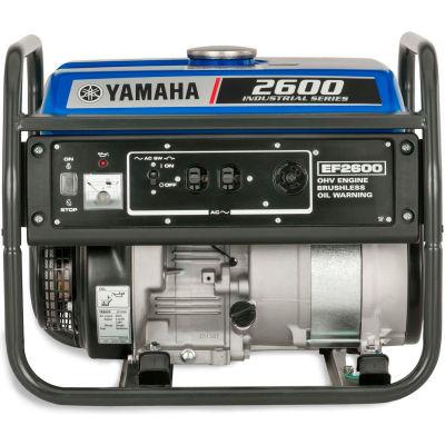Yamaha EF2600, 2300 Watts, Portable Generator, Gasoline, Recoil Start, 120V