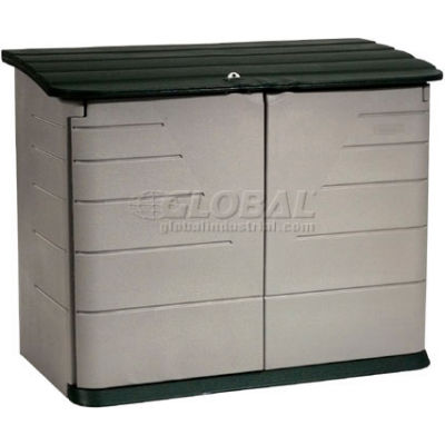 "Rubbermaid Horizontal Outdoor Storage Shed FG374701OLVSS, 60""L X 32""W X 47""H"