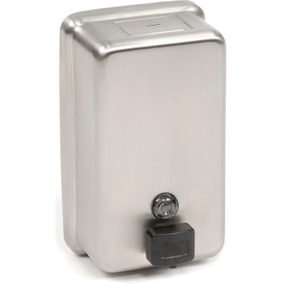 ASI® Stainless Steel Liquid Soap Dispenser Vertical - 0347