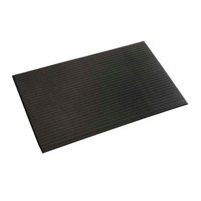 """Apache Mills Soft Foot™ Ribbed Surface Mat 5/8"""" Thick 4' x Up to 30' Black"""