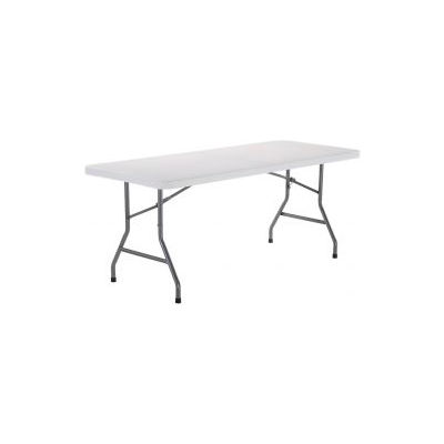 6' Plastic Folding Table - White