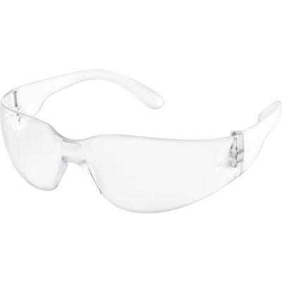 Global Industrial Safety Glasses, Scratch-Resistant, Anti-Fog, Clear Lens Color, 1 Each - Pkg Qty 12