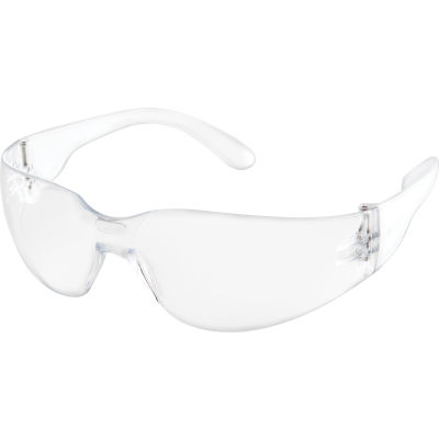 Global Industrial Safety Glasses, Scratch-Resistant, Anti-Fog, Clear Lens Color, 1 Each - Pkg Qty 12