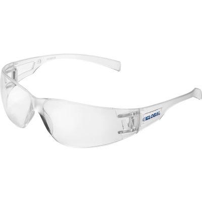 Global Industrial™ Frameless Safety Glasses, Anti-Fog, Clear Lens - Pkg Qty 12