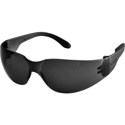 Global Industrial Safety Glasses, Scratch-Resistant, Smoke Lens Color, 1 Each - Pkg Qty 12
