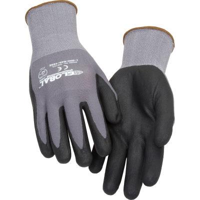 Global Industrial™ Micro-Foam Nitrile Coated Nylon Gloves, 15 Gauge, Large, 1 Pair - Pkg Qty 12