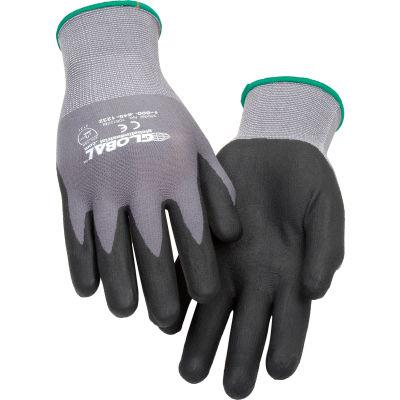 Global Industrial™ Micro-Foam Nitrile Coated Nylon Gloves, 15-Gauge, Medium, 1 Pair - Pkg Qty 12
