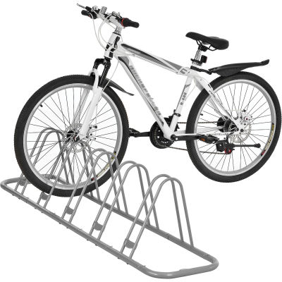 Global Industrial™ Single-Sided Adjustable Bicycle Parking Rack, 5-Bike Capacity