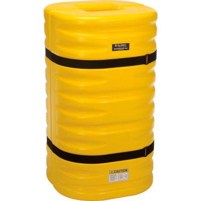 "Global Industrial™ Column Protectors, 8"" Column Opening, Yellow"