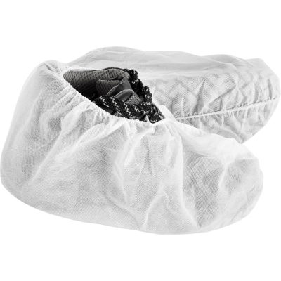 Global Industrial™ Standard Disposable Shoe Covers, Size 12-15, White, 150 Pairs/Case