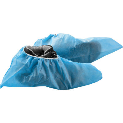 Global Industrial™ Skid Resistant Disposable Shoe Covers, Size 12-15, Blue, 150 Pairs/Case