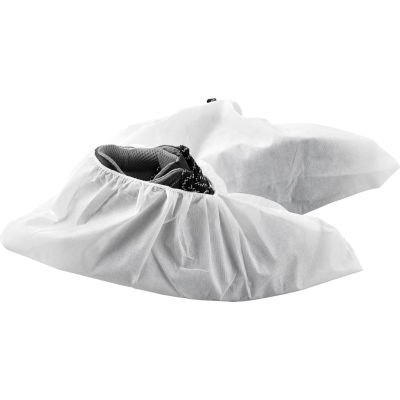 Global Industrial™ Skid Resistant Disposable Shoe Covers, Size 12-15, White, 150 Pairs/Case