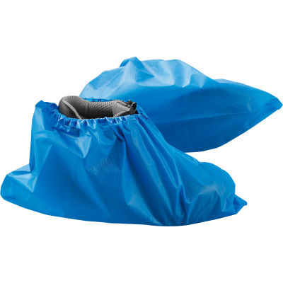 Global Industrial™ Water Resistant Disposable Shoe Covers, Size 12-15, Blue, 150 Pairs/Case