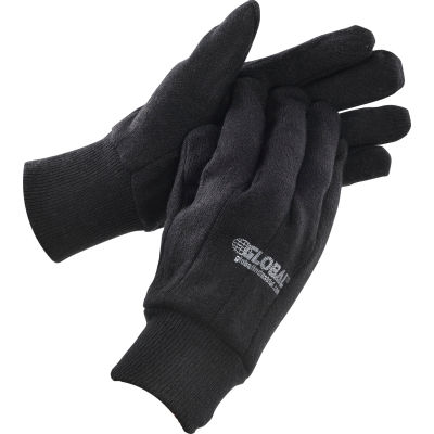 Global Industrial™ Cotton Jersey Gloves, Brown, Men's, 1-Dozen
