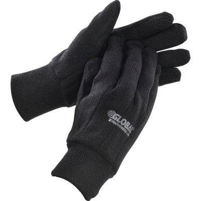 Global Industrial™ Cotton Jersey Gloves, Brown, Men's, 1-Dozen