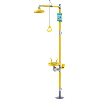 Global Industrial™ Emergency Combination Shower With Eyewash Station, Floor Mounted