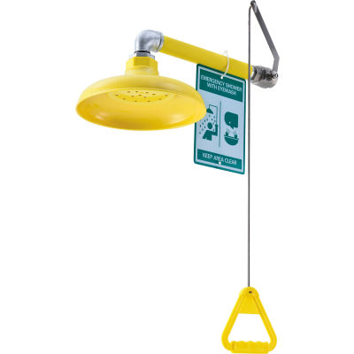 Global Industrial™ Emergency Drench Shower, Horizontally Mounted