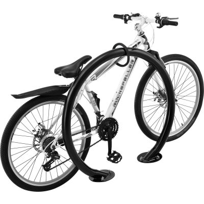 Global Industrial™ Circle Bike Rack, 2 Bike Capacity, Flange Mount, Black