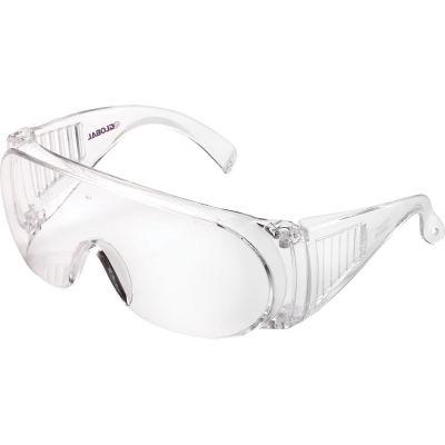 Global Industrial™ OTG Visitor Safety Glasses, Clear Lens/Frame - Pkg Qty 10