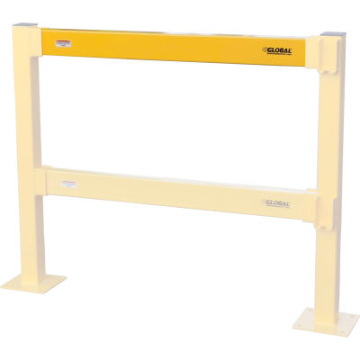 Global Industrial™ Steel Lift-Out Guard Rails, Light Duty, 4'L, Yellow