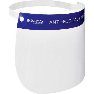 "Global Industrial™ Anti-Fog Full Face Shield, 13"" x 8-1/2"", Box Of 80"