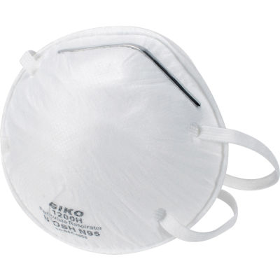 N95 Disposable Particulate Respirator, NIOSH Approved, 20/Box