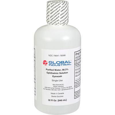 Global Industrial™ Emergency Eyewash, 32 Oz., 1 Bottle