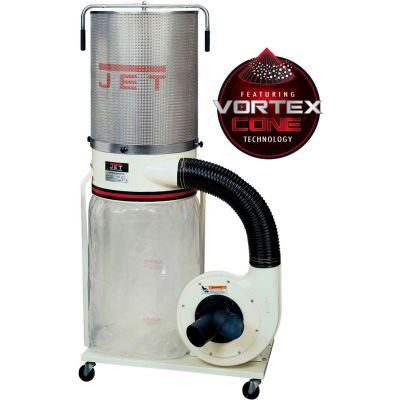 JET 708659K Model DC-1100VX-CK 1.5HP 1-Phase 115/230V Dust Collector W/ 2-Micron Canister Kit