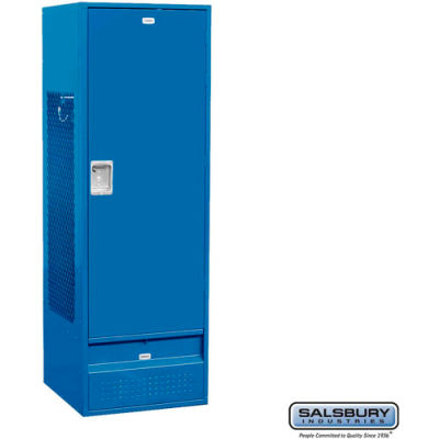 "Salsbury Gear Metal Locker 71024 - Solid Door 24""W x 24""D x 72""H Blue Assembled"