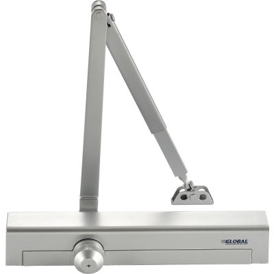 Global Industrial™ Aluminum Door Closer, Manual, Hydraulic, For Internal and External Use