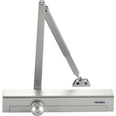 Global Industrial™ Aluminum Door Closer, Manual, Hydraulic, For Internal and External Use