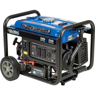 Global Industrial™ Portable Generator W/ Electric/Recoil Start, Gasoline, 3000 Rated Watts