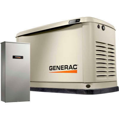Generac® Guardian 14kW 120/240V 1 Phase Air-Cooled Standby Generator, NG/LP, WiFi Enabled