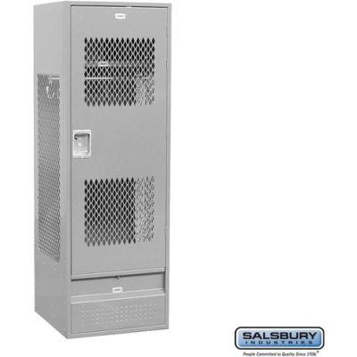 "Steel Gear Locker With Ventilated Door, 24""Wx24""Dx72""H, Gray, Assembled"
