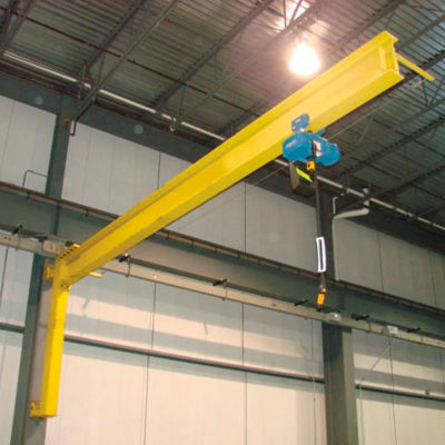 Abell-Howe® Under-Braced Wall Mounted Jib Crane 960011 1000 Lb. Capacity with 14' Span