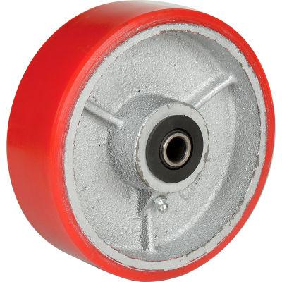 """Global Industrial™ 6"""" x 2"""" Polyurethane Wheel - Axle Size 1/2"""""""