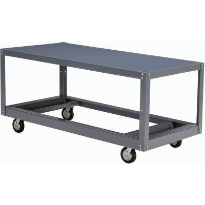 Global Industrial™ Portable Steel Table 1 Shelf 72x36 1200 Lb. Capacity Unassembled