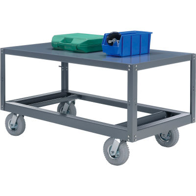 Portable Steel Table 1 Shelf 72x36 1200 Lb. Capacity Unassembled