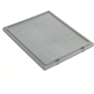 Global Industrial™ Lid LID191 for Stack and Nest Storage Container SNT190, SNT195, Gray - Pkg Qty 6