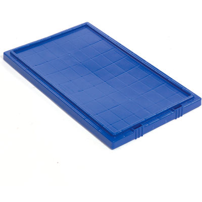 Global Industrial™ Lid LID201 for Stack and Nest Storage Container SNT200, Blue - Pkg Qty 6