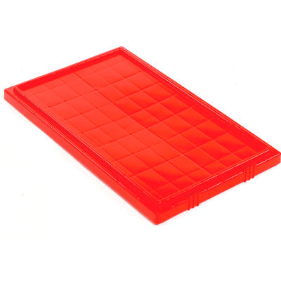 Global Industrial™ Lid LID181 for Stack and Nest Storage Container SNT180, SNT185, Red - Pkg Qty 6