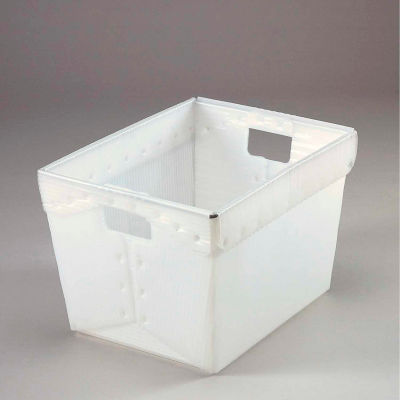 Global Industrial™ Corrugated Plastic Totes - Postal Nesting-No Lid 18-1/2x13-1/4x12 Natural - Pkg Qty 10